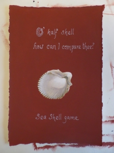 O' half shell how can I compare thee? sea shell game