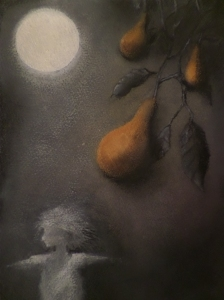 ...the moon had put a gleam on the fruit ...
